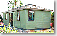 Our purpose-built garden office, especially furnished and equipped for computer diagnostics and repairs.
